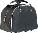 BILTWELL Rover Retro Motorcycle Helmet/Gear Bag (Black/Cream)