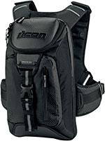 ICON Squad 3 Motorcycle Backpack w/ Laptop Pocket (Black)