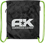 AMERICAN KARGO Cinch Bag (Black)