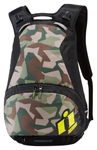 ICON Stronghold Motorcycle Backpack w/ Laptop Compartment (Black/Camo/ Hi-Viz Rain Cover)
