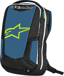 Alpinestars 2017 CITY HUNTER Commuter Motorcycle Backpack (Black/Blue/Lime)