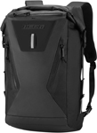 Icon MotoSports Dreadnaught Rolltop Motorcycle Backpack (Black)