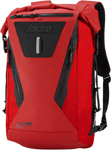 Icon MotoSports Dreadnaught Rolltop Motorcycle Backpack (Red)