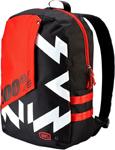 100% MX Motocross PORTER Backpack Gear Bag w/ Integrated Padded Laptop Sleeve (Jeronimo - Black/Red)