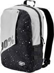 100% MX Motocross PORTER Backpack Gear Bag w/ Integrated Padded Laptop Sleeve (Milkyway - Black)