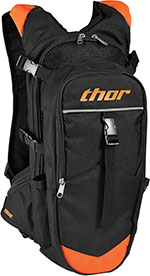THOR MX Motocross 2016 HYDRANT 3L Hydration Pack w/ Extra Storage (Black/Red Orange)