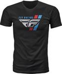 Fly Racing MX Motocross Retro Stripe Tee (Black)