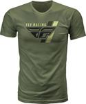 Fly Racing MX Motocross Retro Stripe Tee (Military Green)