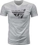 Fly Racing MX Motocross Retro Stripe Tee (Heather Grey)