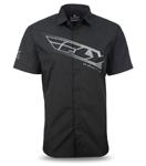 FLY RACING 2017 Pit Shirt, Short Sleeve Slim Fit (Black/Grey)