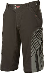 FLY RACING Super-D, MTB/BMX/Freeride Performance Shorts (Black/Gray)