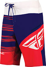 FLY Racing - Influx Boardshorts (Red/Blue/White)