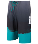 Fly Racing MX Motocross MTB BMX 2018 Men's PAINT SLINGER Boardshorts (Black/Teal)