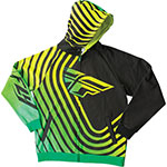 FLY RACING SONAR Hoody Sweatshirt (GREEN/BLACK)
