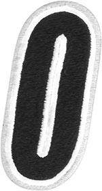 AMERICAN KARGO Gear Bag Number Patch #0 Zero (White/Black)