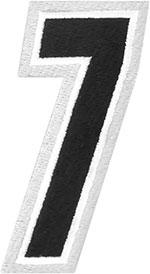 AMERICAN KARGO Gear Bag Number Patch #7 Seven (White/Black)
