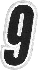 AMERICAN KARGO Gear Bag Number Patch #9 Nine (White/Black)