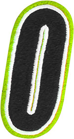 AMERICAN KARGO Gear Bag Number Patch #0 Zero (Hi-Viz/Black)