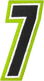 AMERICAN KARGO Gear Bag Number Patch #7 Seven (Hi-Viz/Black)