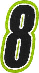 AMERICAN KARGO Gear Bag Number Patch #8 Eight (Hi-Viz/Black)