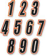 AMERICAN KARGO Gear Bag Number Patch #8 Eight (Orange/Black)