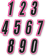 AMERICAN KARGO Gear Bag Number Patch #6 Six (Pink/Black)
