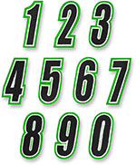 AMERICAN KARGO Gear Bag Number Patch #0 Zero (Green/Black)