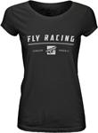 Fly Racing MX Motocross Women's Pursuit Vintage Tee (Black)