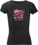 Fly Racing MX Motocross Girls Youth Crayon Tee (Black)