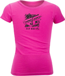 Fly Racing MX Motocross Girls Youth Crayon Tee (Raspberry Pink)