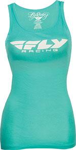 FLY Racing MX Motocross MTB BMX - Women's CORPORATE Fashion Fit Tank Top (Teal)