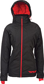 FLY RACING Ladies Lean Insulated Jacket (Black/Red)