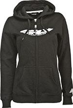FLY RACING Ladies Corporate Sweatshirt Hoodie (Black)