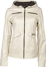 FLY RACING Ladies Waxed Slim Fit Jacket (Ivory)