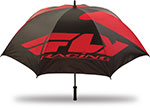FLY RACING Track Paddock Golf Rain Shade UMBRELLA (Black/Red)