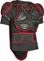FLY RACING Barricade Body Armor Suit Short Sleeve (Black/Red)