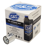 S&S Cycle Oil Change Kit for 2017-'19 Harley-Davidson M8 Models | 20W-50 | 162233