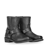 HIGHWAY 21 Men's SPARK LOW Harness Leather Riding Boots (Black)