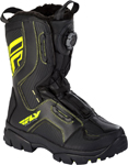 Fly Racing Snowmobile Marker Boa Boots (Black/Hi-Vis)
