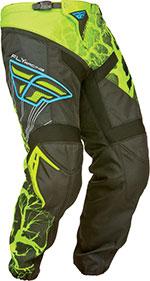 FLY RACING F-16 MX/Motocross/ATV Pants (Black/Hi-Vis/Blue)