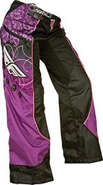 FLY RACING Ladies Kinetic Overboot Motocross Pants Black/Purple/Pink