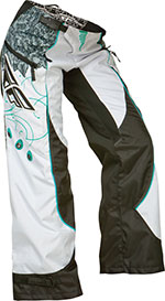 FLY RACING Ladies Kinetic Overboot Motocross Pants (Teal/White)