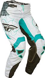 FLY RACING Ladies Kinetic MX/Motocross Race Pants (Teal/White)