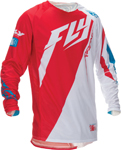 FLY RACING MX Motocross MTB BMX Kids 2016 Evolution Switchback 2.0 Jersey (White/Red)