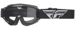 Fly Racing MX Motocross MTB BMX 2018 FOCUS Goggles (Black w/ Clear Lens)