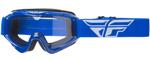 Fly Racing MX Motocross MTB BMX 2018 FOCUS Goggles (Blue w/ Clear Lens)
