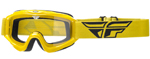 Fly Racing MX Motocross MTB BMX 2018 FOCUS Goggles (Yellow w/ Clear Lens)