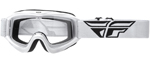 Fly Racing MX Motocross MTB BMX 2018 FOCUS Goggles (White w/ Clear Lens)