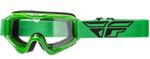 Fly Racing MX Motocross MTB BMX 2018 FOCUS Goggles (Green w/ Clear Lens)