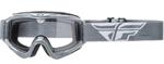 Fly Racing MX Motocross MTB BMX 2018 FOCUS Goggles (Grey w/ Clear Lens)